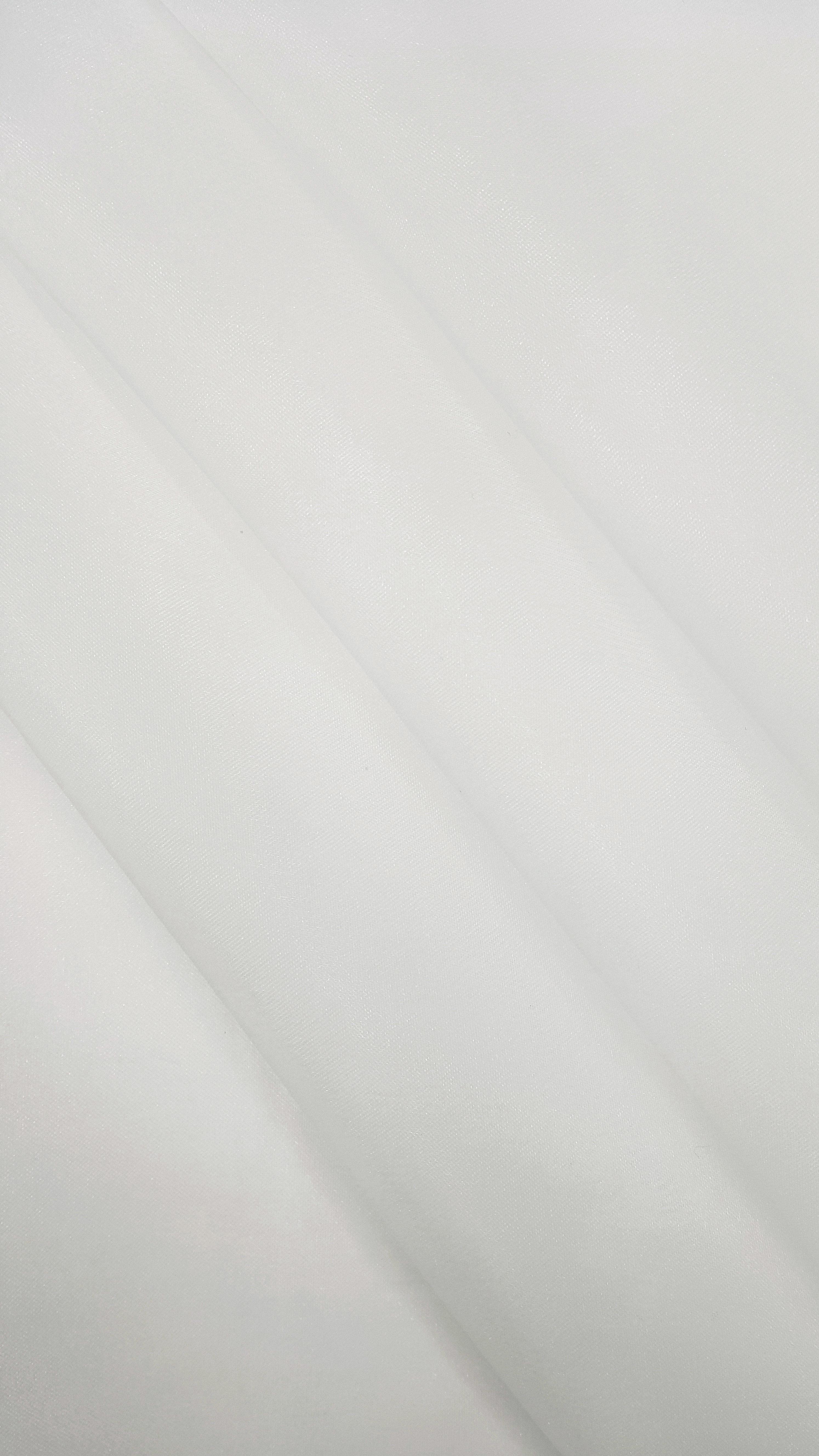 Soft White Poly Organza