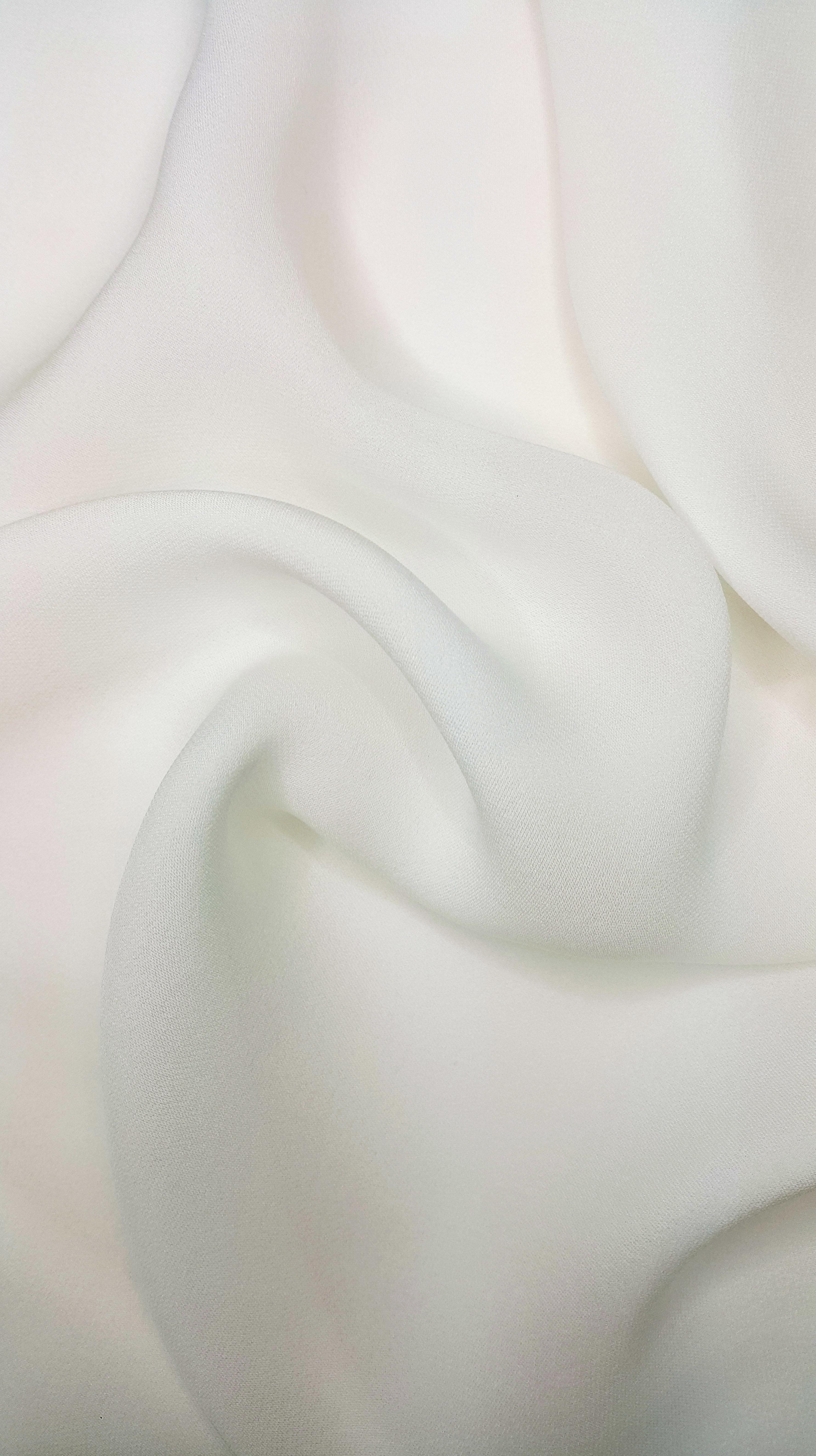 Soft White Georgette