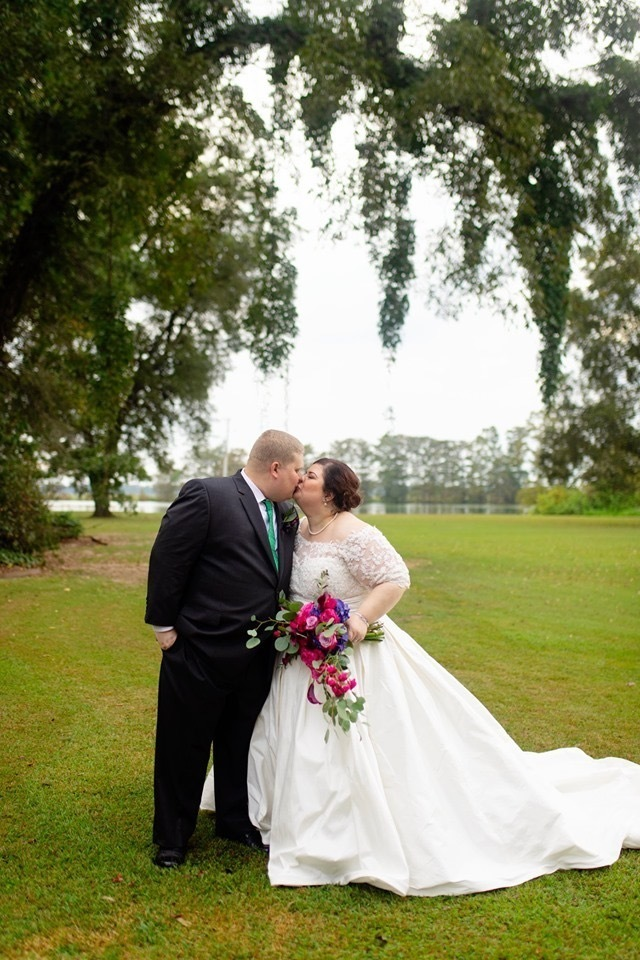 Brides can choose structured fabric for their custom online Ball Gown wedding dresses.