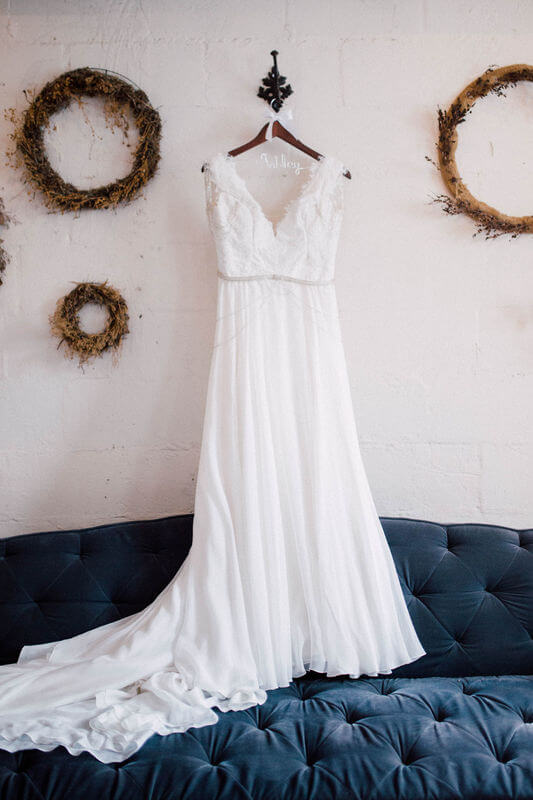 1920s vintage style wedding dresses with Plunging Neck and Low back