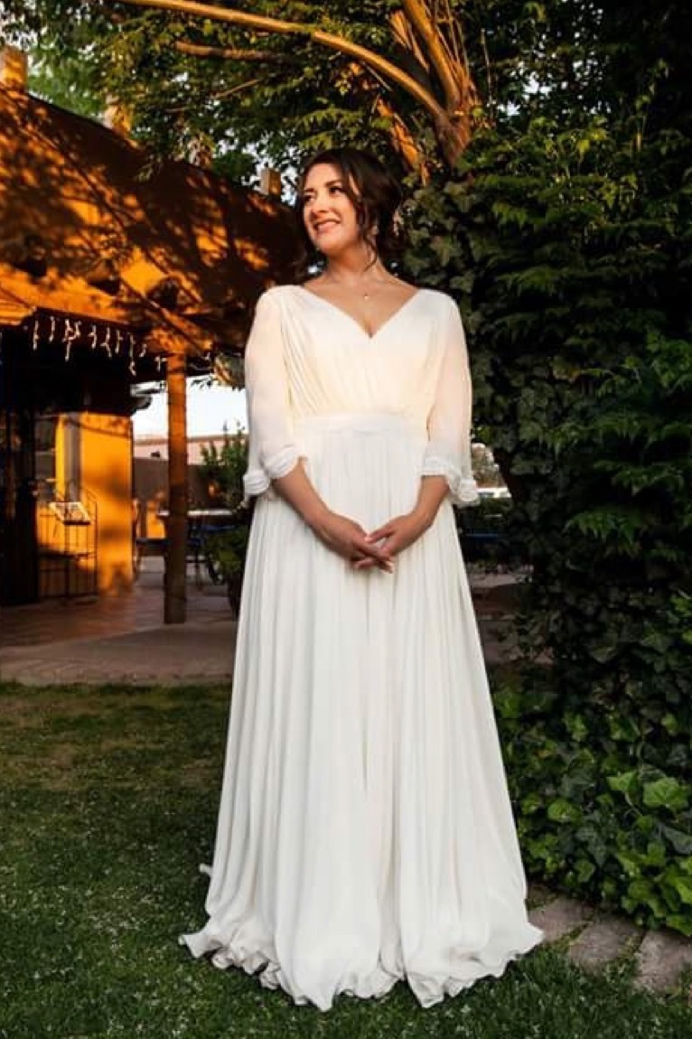 Brides are designing butterfly sleeve wedding dresses online with Anomalie.