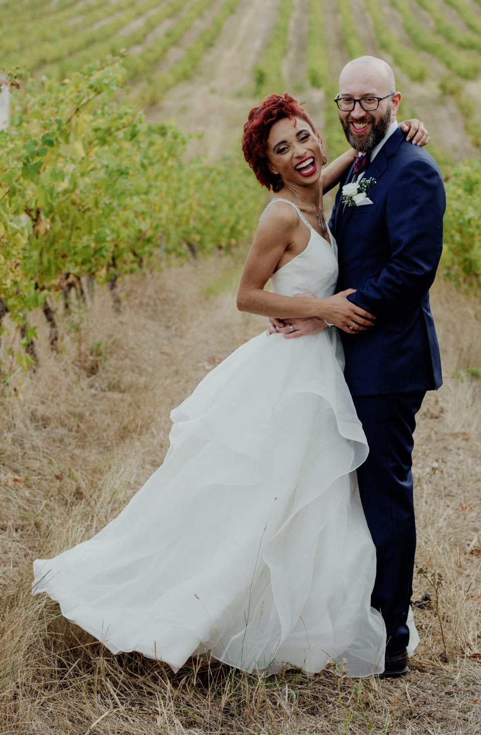 Anomalie Online Custom Wedding Dresses can create your dream dress with tiers, ruffles, tulle, and lace.