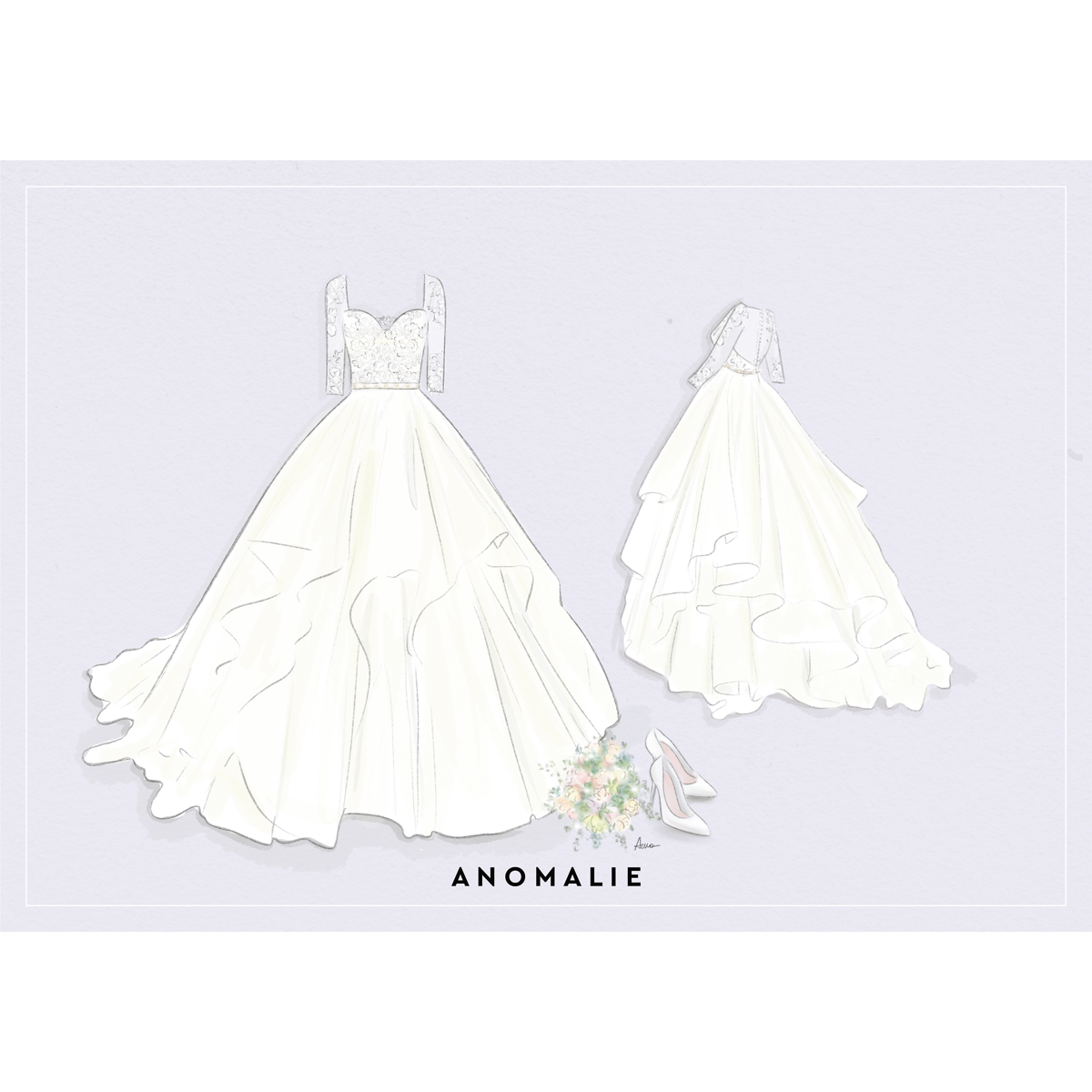 Anomalie Blush tiered online wedding dress, long sleeves beaded belt, knoxville wedding