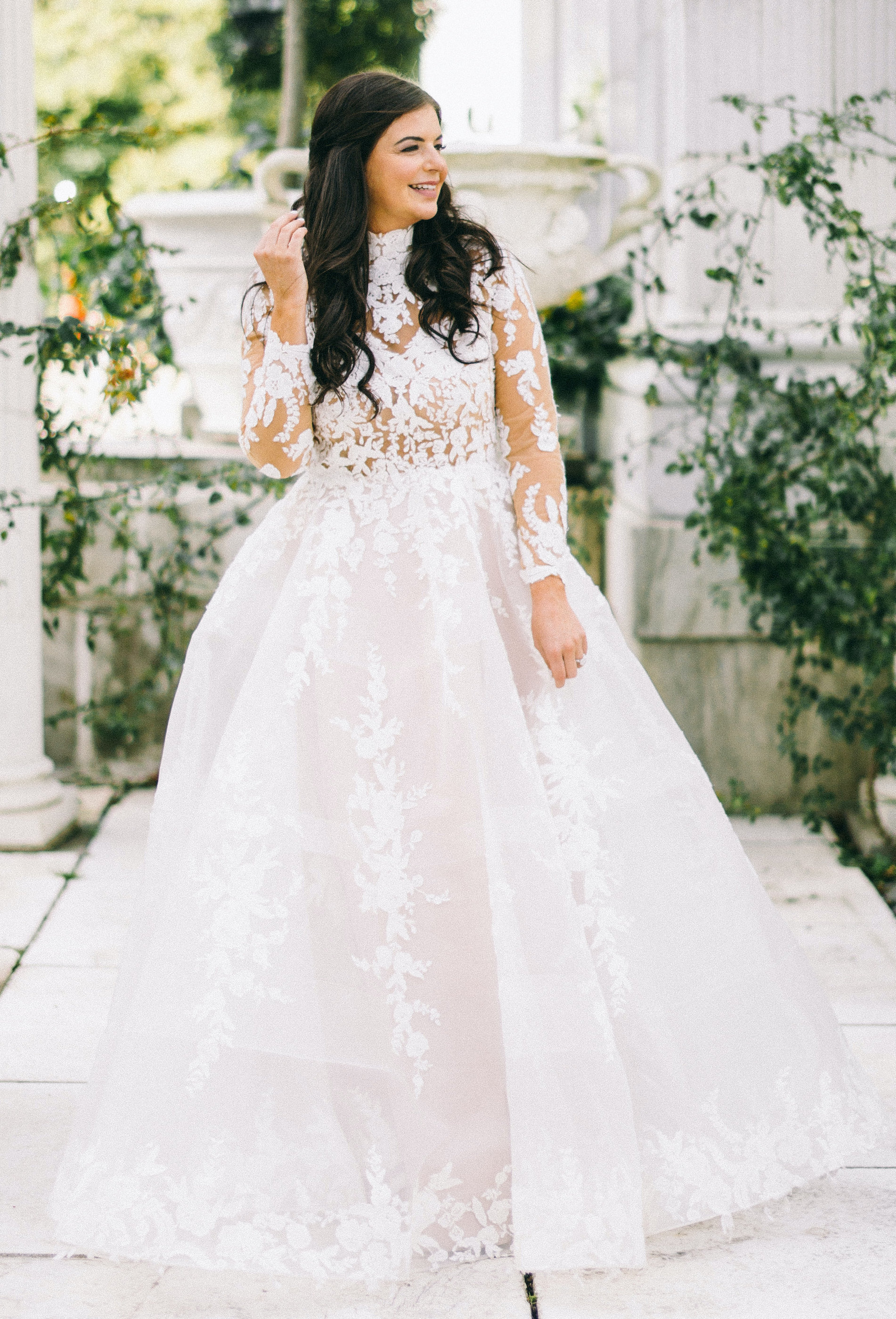 Brides order online wedding dresses from Anomalie. Popular elements brides order online from Anomalie include wedding dresses with a Ball Gown silhouette and lace sleeves.
